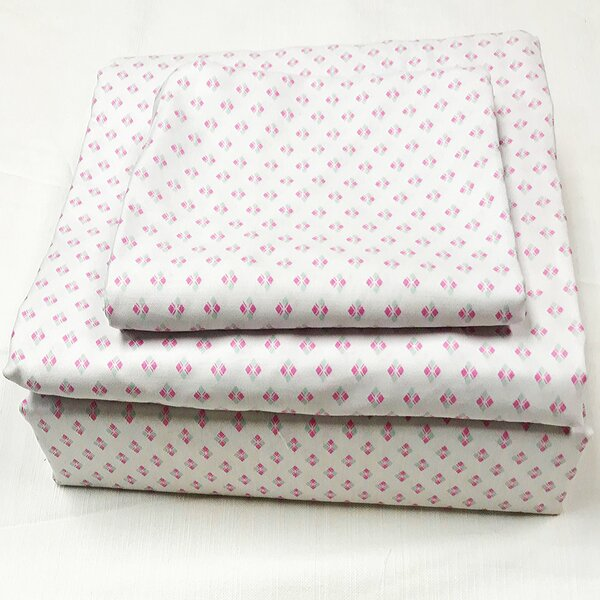 Greenmeadow 200 Thread Count 100% Cotton Sheet Set by Bungalow Rose